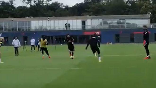 Messi et Mbappé brillent déjà à l'entraînement du PSG